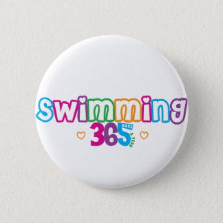 365 Swimming 2 Inch Round Button