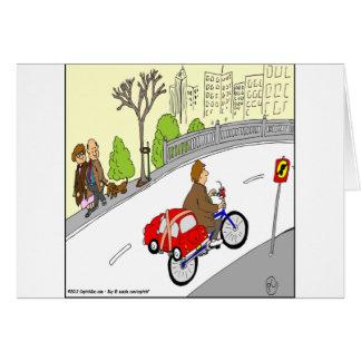 368 smart car bike rack cartoon card