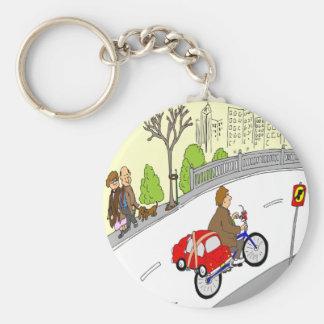 368 smart car bike rack cartoon keychain