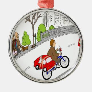 368 smart car bike rack cartoon metal ornament
