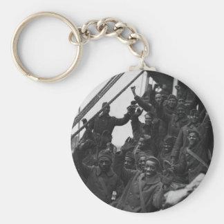 369th New York National Guard Infantry Regiment Basic Round Button Keychain