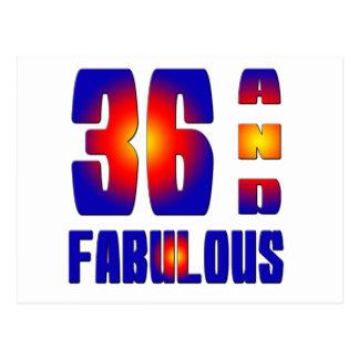 36 And Fabulous Postcard