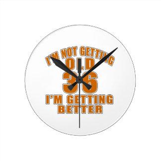 36 I Am Getting Better Wall Clock