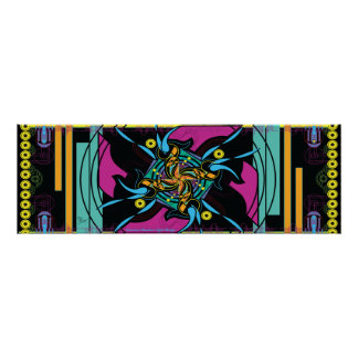 "36"" x 12"" EPD: Lemurian Rainbow Light Bridge Poster"