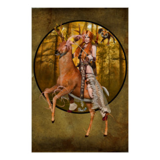 "36"" x 24"" Banrion Foraoise ~Forest Queen~ Poster"