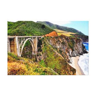 36 X 24 BIXBY BRIDGE CALIFORNIA COAST CANVAS PRINT