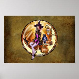 """36"""" x 24"""" Fhoghair Ghealach ~Harvest Moon~ Poster"""