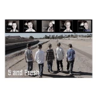 "36"" x 24"" Five and Fresh Poster-Walking Poster"