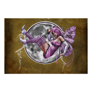 "36"" x 24"" Full Moon Pixie Poster"