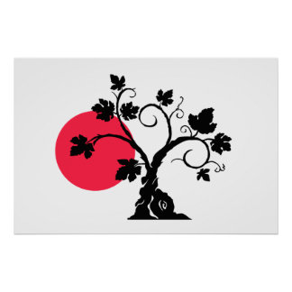 """36"""" x 24"""", Value Poster Paper (Matte) Sun and Tree"""