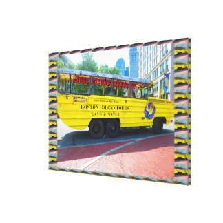 "36"" x 24"" Wrapped Canvas Boston Duck Tours"