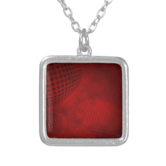 36set4red silver plated necklace