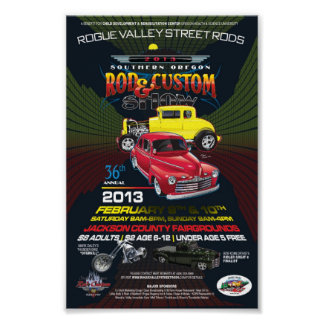 36th Annual SO Rod & Custom Show Canvas Poster
