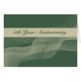 3703 5th Year Employee Anniversary Card