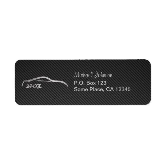370Z Silver Logo with Faux Carbon RIber Return Address Label