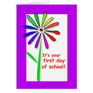 3722 First Day of School Flower Card