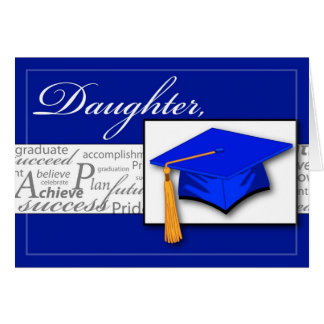 3727 Daughter Graduation Words Card