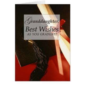 3739 Granddaughter Graduation Greeting Card