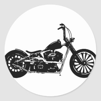 374 Chopper Bike Classic Round Sticker