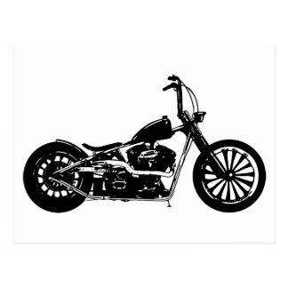 374 Chopper Bike Postcard