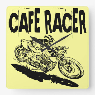 379 Cafe Racer Square Wall Clock