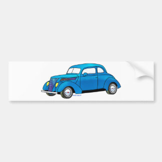 37 Ford Club Coupe Bumper Stickers
