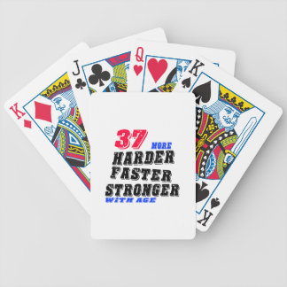 37 More Harder Faster Stronger With Age Bicycle Playing Cards