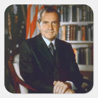 37 Richard Milhous Nixon Square Sticker