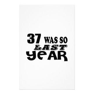 37 So Was So Last Year Birthday Designs Stationery