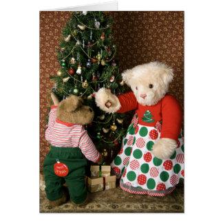 3834 Teddy Bears Christmas Card