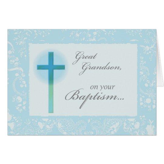 3879 Great Grandson Baptism Card