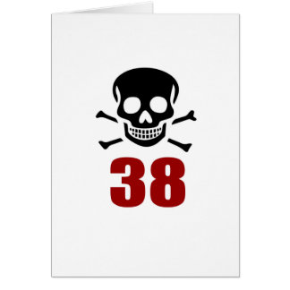 38 Birthday Designs Card