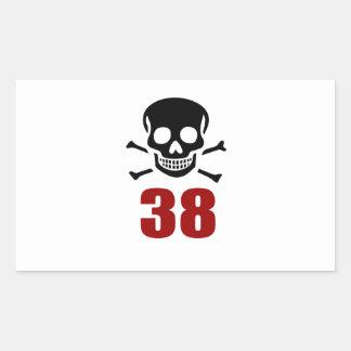 38 Birthday Designs Sticker