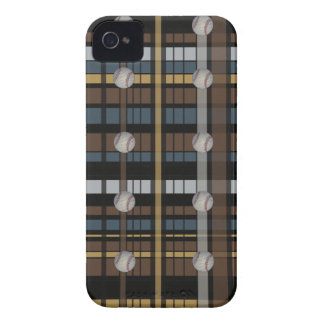 38. Brown Black Gray Plaid Baseball Design iPhone 4 Case-Mate Cases