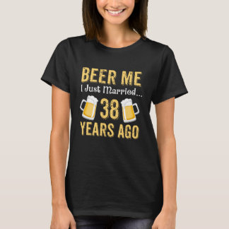 38th Anniversary Costume For Beer Lover. T-Shirt