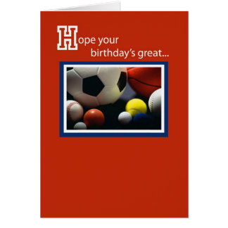 3968 Birthday All Sports Card