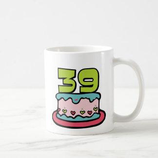 39 Year Old Birthday Cake Coffee Mug