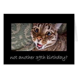 39th birthday card