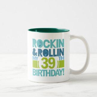 39th Birthday Gift Ideas Two-Tone Coffee Mug