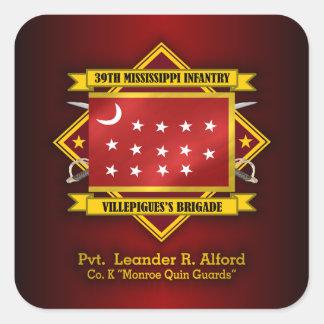 39th Mississippi Infantry (Alford) Square Sticker