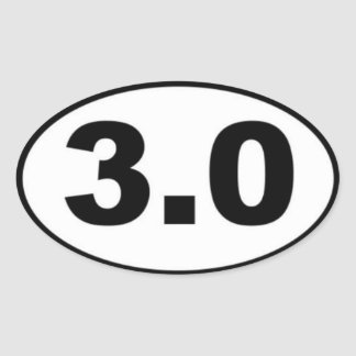 3.0 Mile Oval Sticker