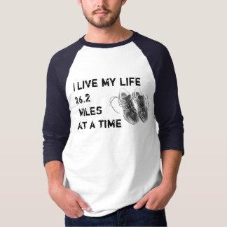 3/4 Raglan - I live my life 26.2 miles at a time T-Shirt