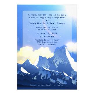 3 5 x 5 Mountain Majestic Wedding Invitation