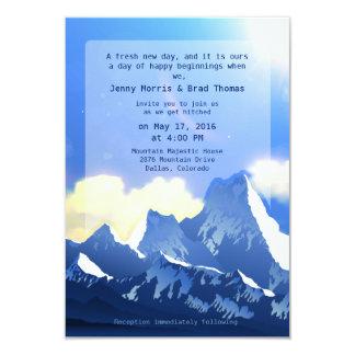 "3.5"" x 5""  Mountain Majestic Wedding Invitation"