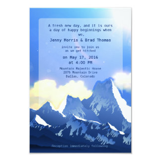 "3.5"" x 5""  Mountain Majestic Wedding Invitation"