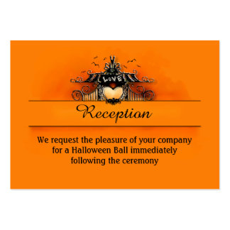 3.5x2.5 Reception Cards - Halloween Love Business Cards