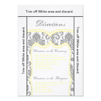 3.5x6 Directions Card Gray Yello Damask
