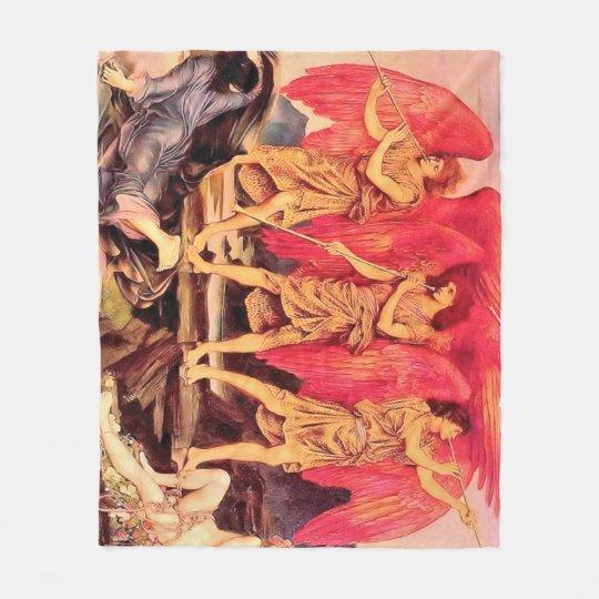 3 angels Fleece Blanket, Medium