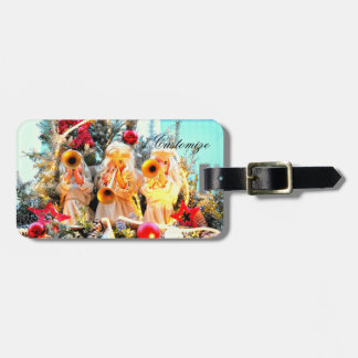 3 angels trumpeting luggage tag