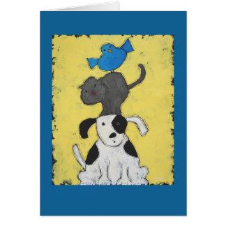3 animal totem card